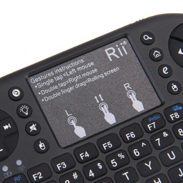 Rii Mini I8+ (v2) Negru Backlight Touchpad