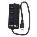 HUB USB 3.0 4 Porturi Negru