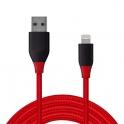 Tronsmart LTA12 USB - Lightning (1.2 metri, rosu-negru)
