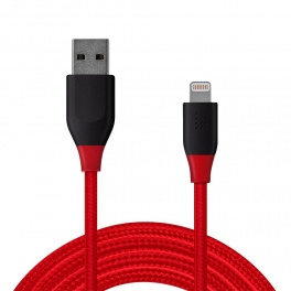 Tronsmart LTA07 USB - Lightning (3.0 metri, rosu-negru)