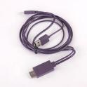 Adaptor MHL Micro USB HDMI 1,8m Negru