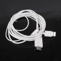 Adaptor MHL Micro USB HDMI Cablu 1,8m Alb