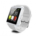 UWatch U8 Alb Smartwatch Bluetooth Compatibil Smartphone Android sau iOS