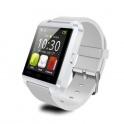 UWatch U8 Alb Smartwatch Bluetooth Compatibil Smartphone Android sau iOS