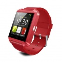 UWatch U8 Rosu Smartwatch Bluetooth Compatibil Smartphone Android sau iOS