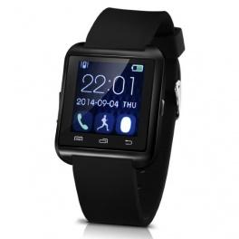 UWatch U8 Plus Negru Smartwatch Bluetooth Compatibil Smartphone Android sau iOS
