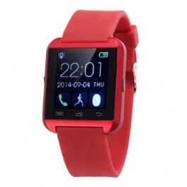 UWatch U8 Plus Rosu Negru Smartwatch Bluetooth Compatibil Smartphone Android sau iOS