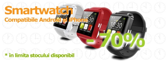 Smartwatch - Ceasuri inteligente compatibile cu Android si iPhone