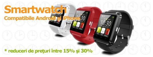 Smartwatch - Ceasuri inteligente compatibile cu Android si iPhone