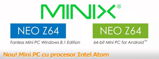 Minix Neo Z64 cu SO Windows sau Android