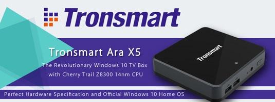Windows 10 Mini PC Tronsmart Ara X5 2GB/32GB Full HD Quad Core GPU